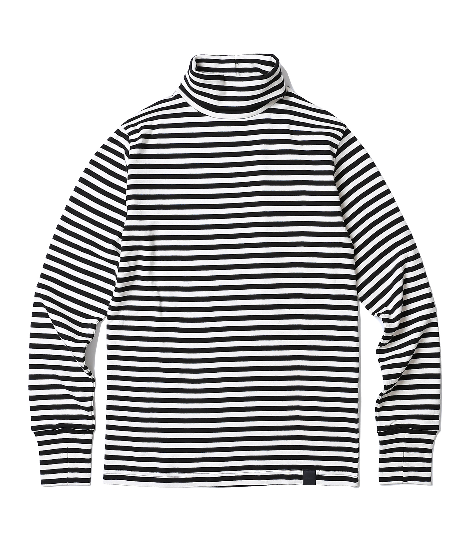 Warmer Stripe Turtle Neck (Black)