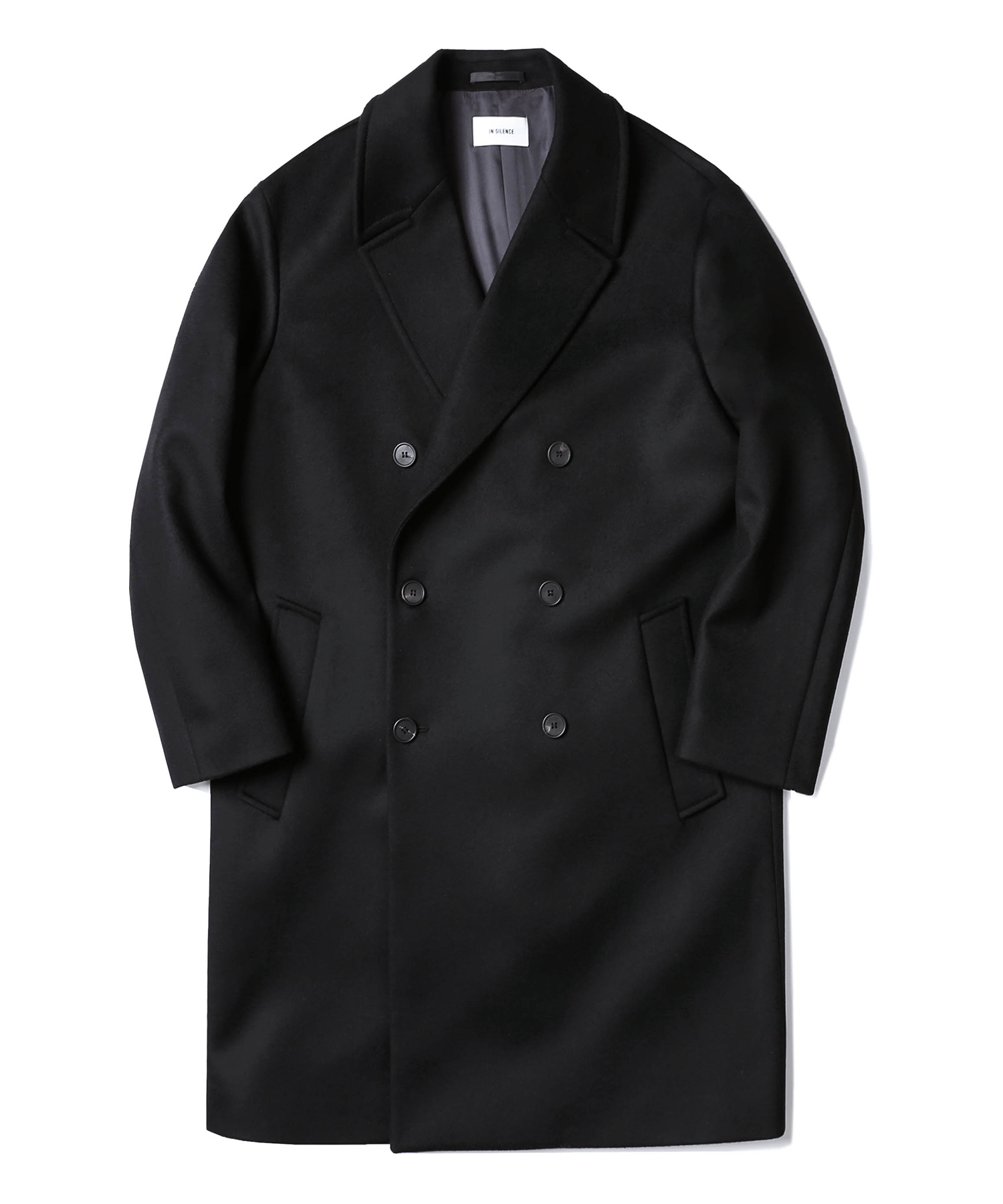 [1월20일 예약배송]Double Oversize Cashmere Coat (Black)