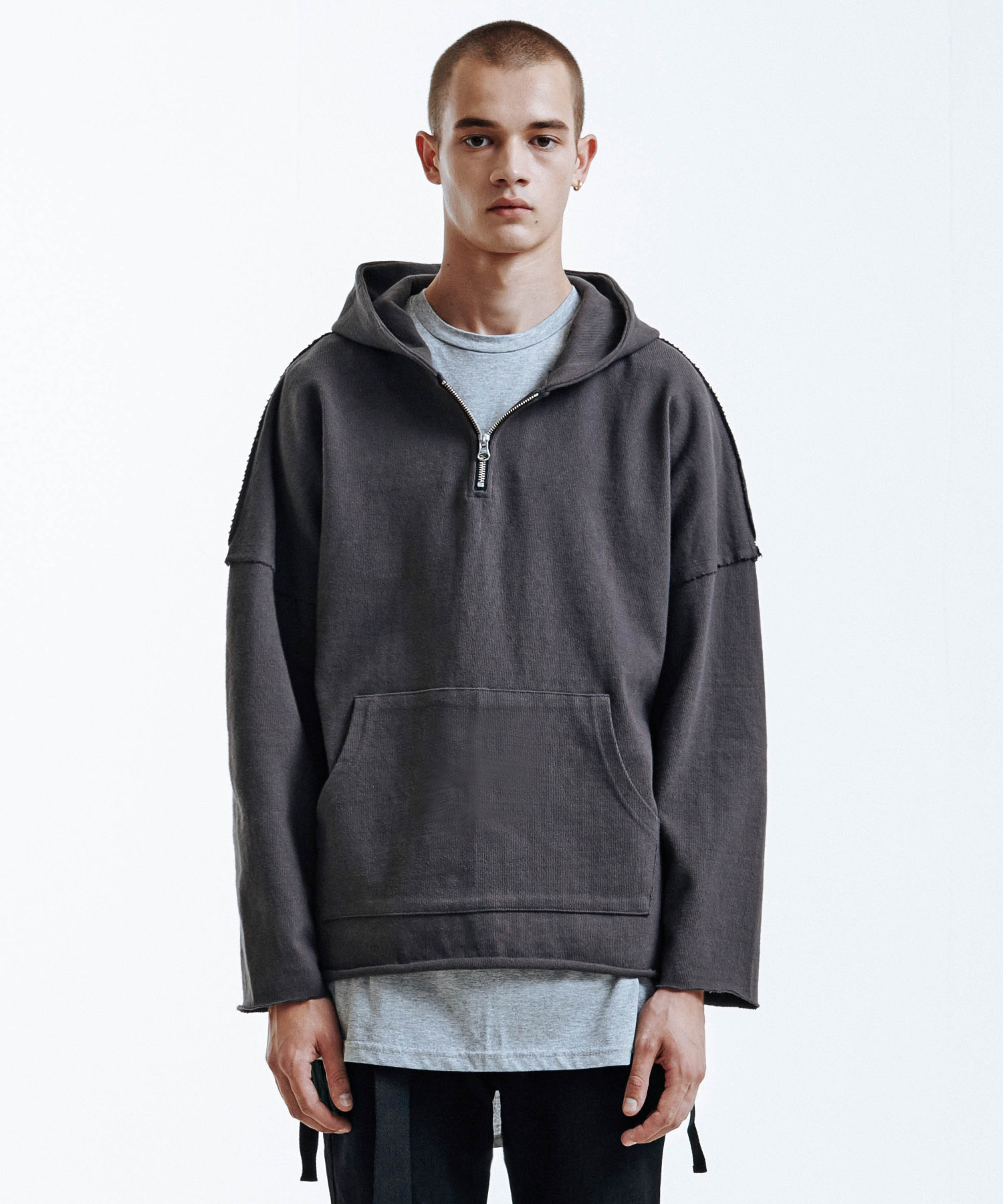 Heavy Single Strap Hoodie (Charcole)