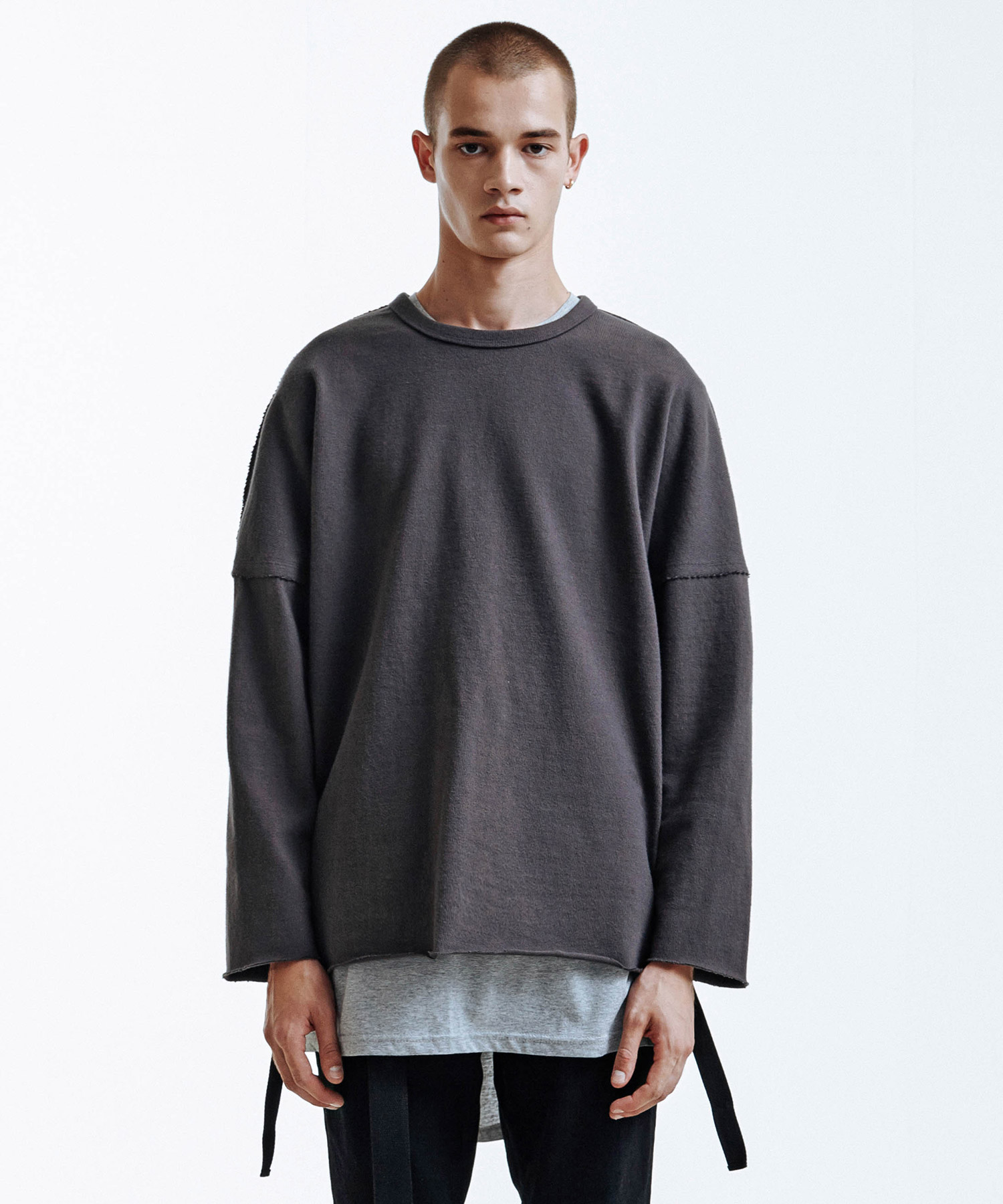 Heavy Single Strap Pullover (Charcole)