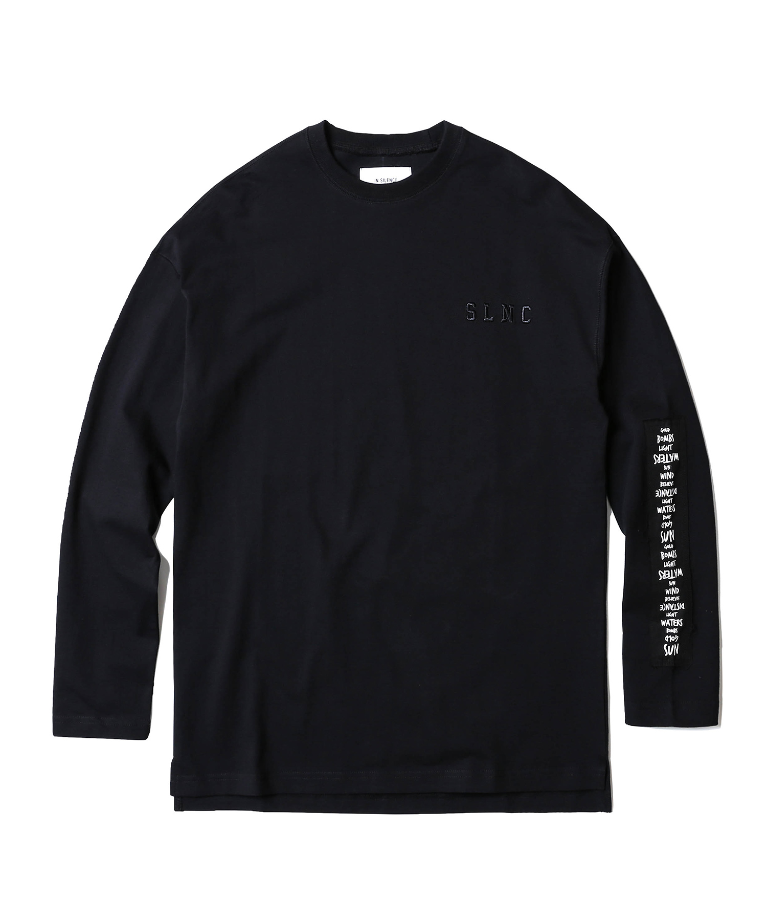 Patched Long Sleeve Tee (Black)