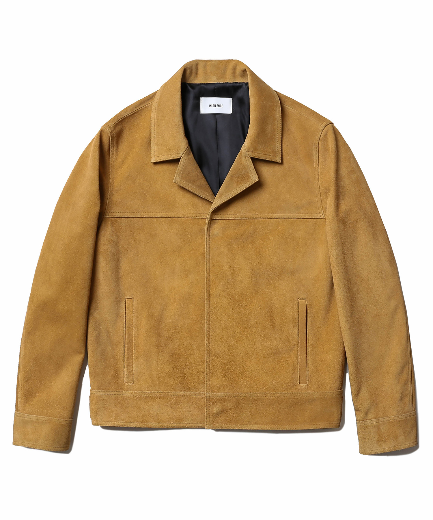 Cow Suede Trucker Jacket (Camel)