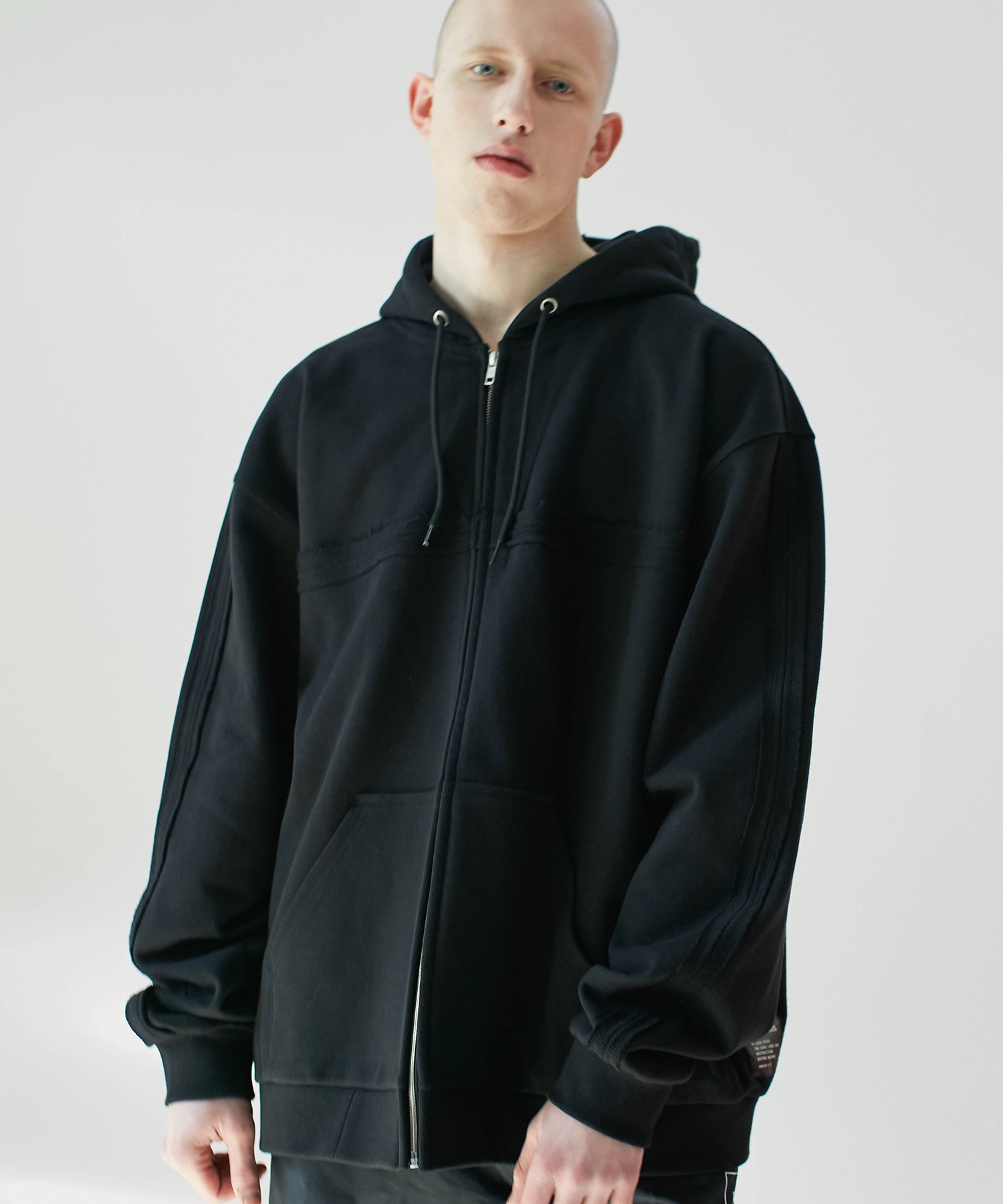 SL Oversized Zip Up Hoodie (Black)