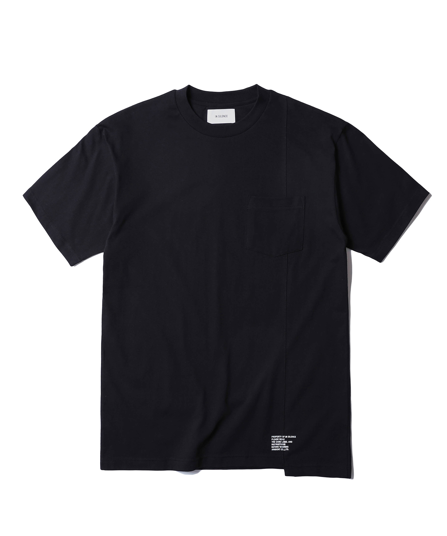 Panelled Pocket Tee (Black)