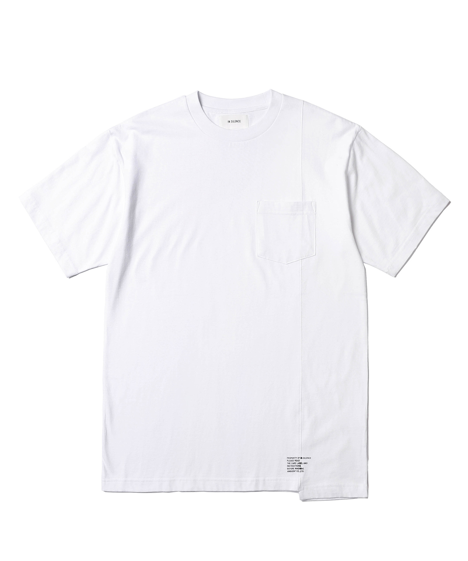 Panelled Pocket Tee (White)