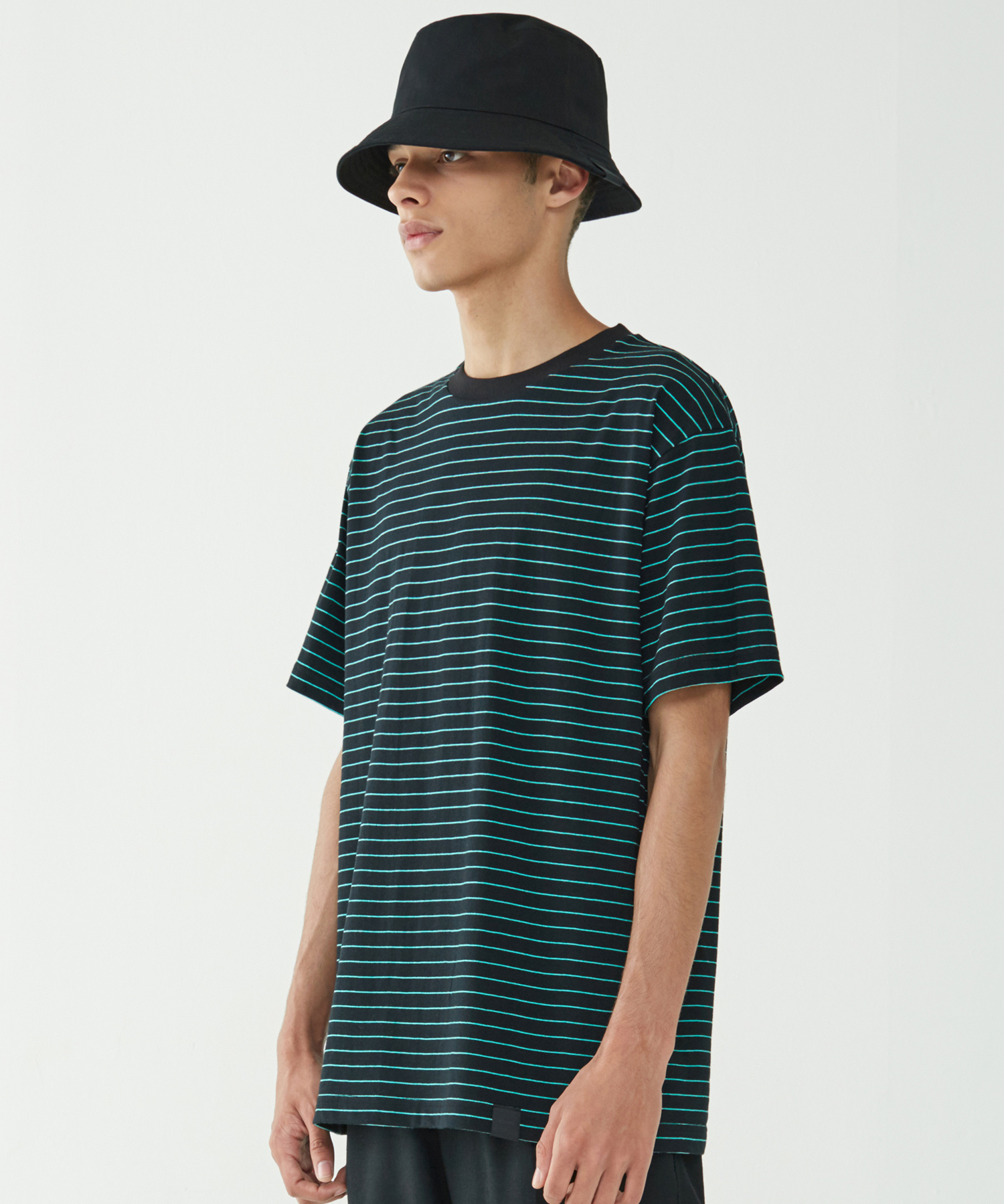 Narrow Stripe Tee (Mint)