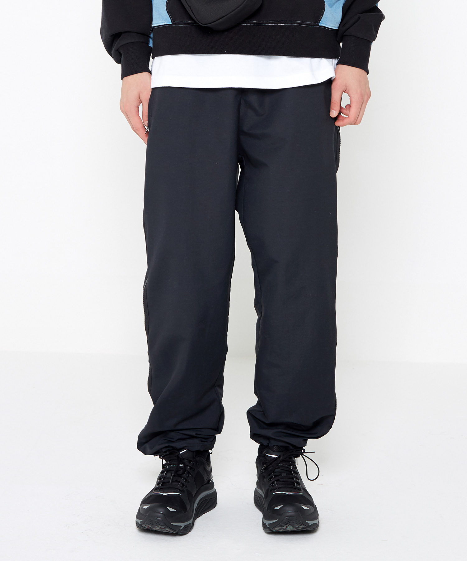 Side Zip Track Pants (Black)