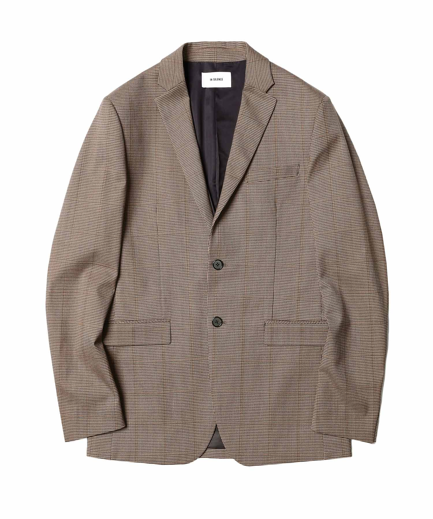 Wool Single Blazer Check