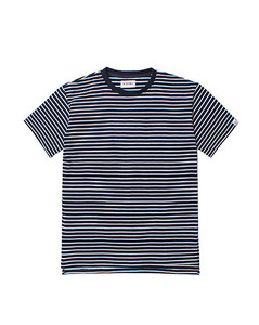 LOOSE FIT STRIPE TEE (NAVY)
