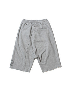 CUTOFF BAGGY SHORTS (GREY)