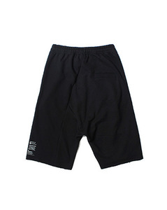 CUTOFF BAGGY SHORTS (BLACK)