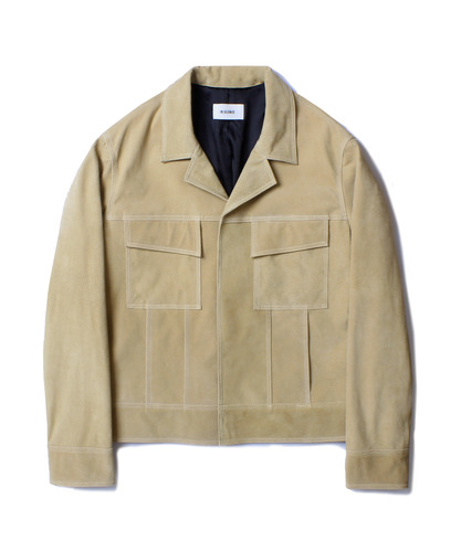 REAL SUEDE JACKET (BEIGE)
