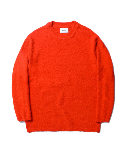 ALPACA BOUCLE KNIT (ORANGE)