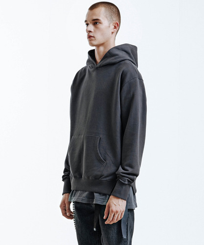 Side Tail Hoodie (Charcoal)