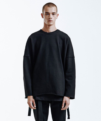 Heavy Single Strap Pullover (Black)