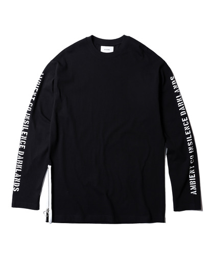 Side Zip Long Sleeves (Black)