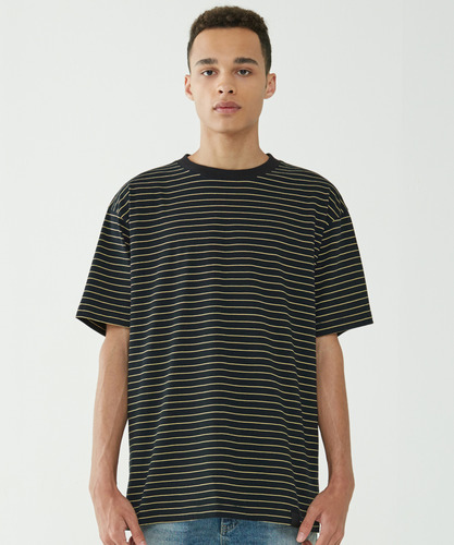 Narrow Stripe Tee (Yellow)