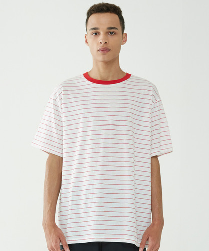 Narrow Stripe Tee (Red)