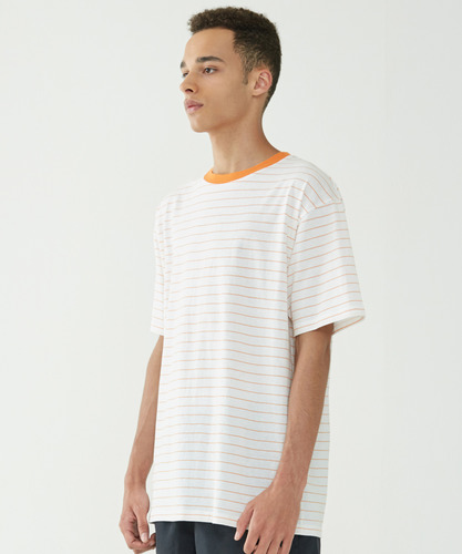 Narrow Stripe Tee (Orange)