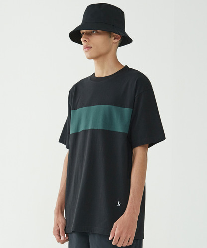 Color Block Tee (Black)