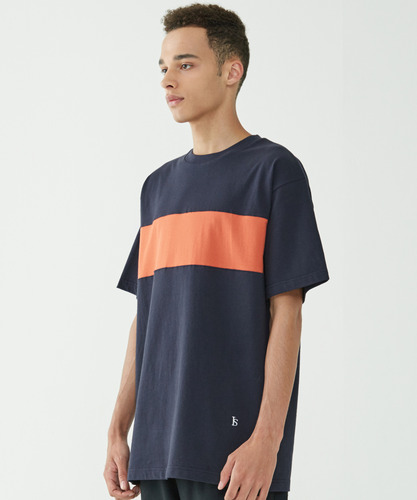Color Block Tee (Navy)