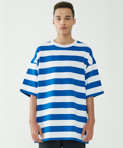 Big Stripe Oversize Tee (Blue)