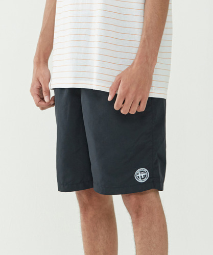 Emblem Lounge Shorts (Black)