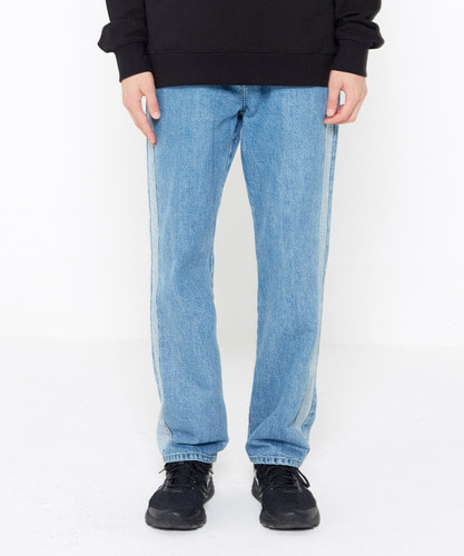 Reverse Panel Denim Pants