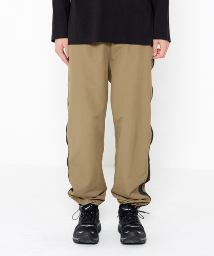 Side Zip Track Pants (Khaki)