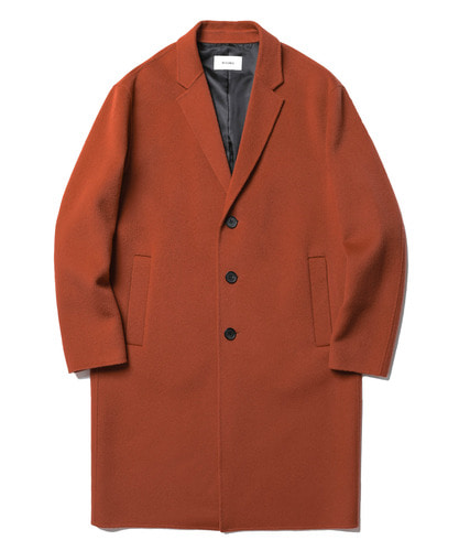 17FW Lydian Handmade Cashmere Coat (Brick Red)