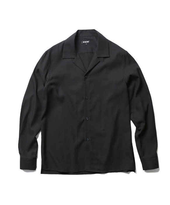 OPEN COLLAR SHIRT black